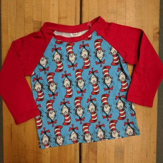 Red & Blue Dr Seuss Raglan