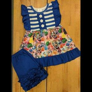 Bright Blue Disney Shorts Set