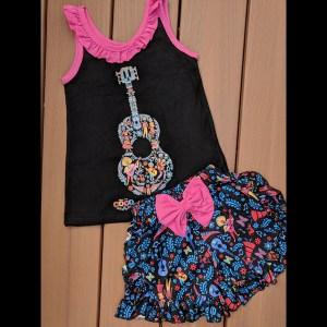 Black & Pink Coco Short Set