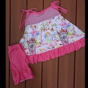 Purple Fairytale Twirl Dress & Short Set