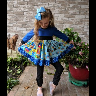 Pete The Cat Twirl Dress With Leggings