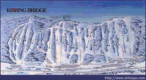 Kissing Bridge Ski Resort Guide Location Map  Kissing