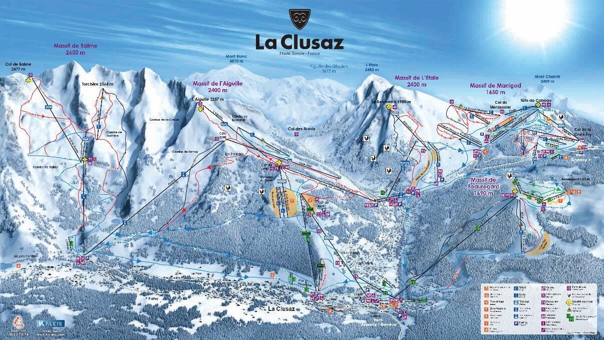 La Clusaz Ski Resort Guide Location Map  La Clusaz ski
