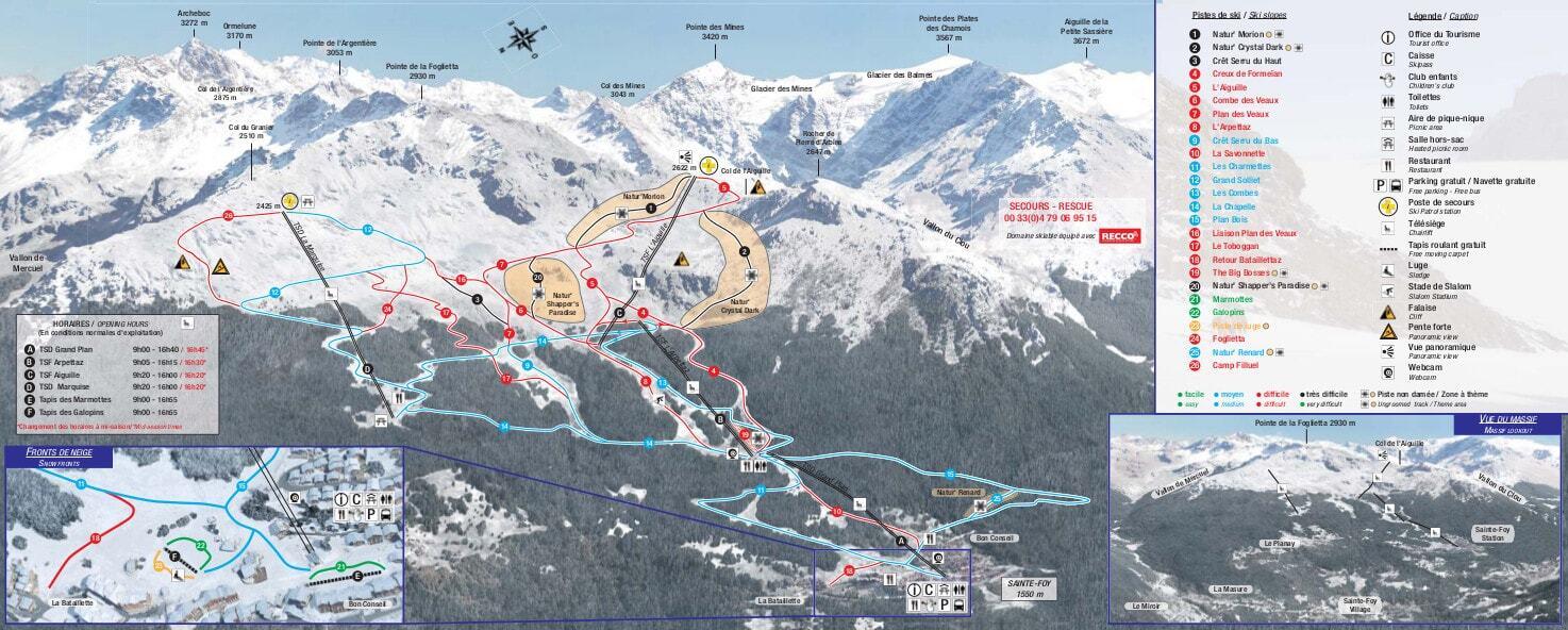 Sainte Foy Ski Resort Guide Location Map  Sainte Foy ski