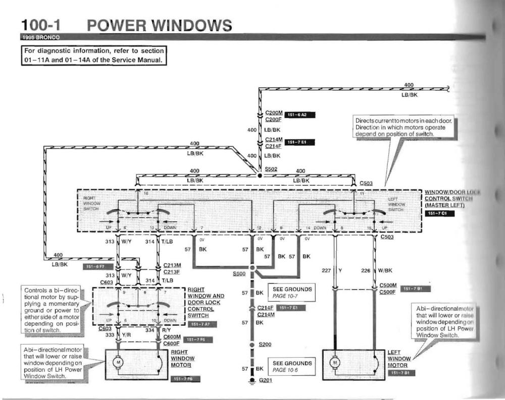 medium resolution of click image for larger version name bronco 1995 ford window wiring diagram page 1