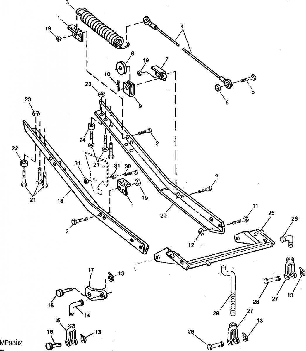 Help! John Deere 38 inch snowthrower support bracket