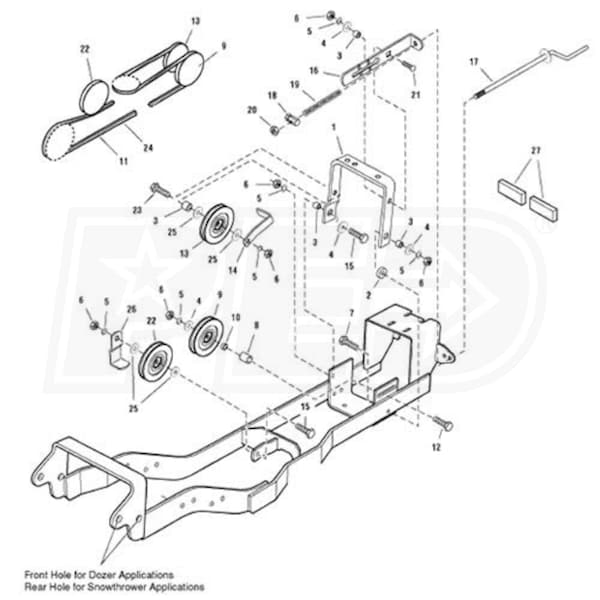 Simplicity 1695196 Subframe & Hitch For Snow Blowers