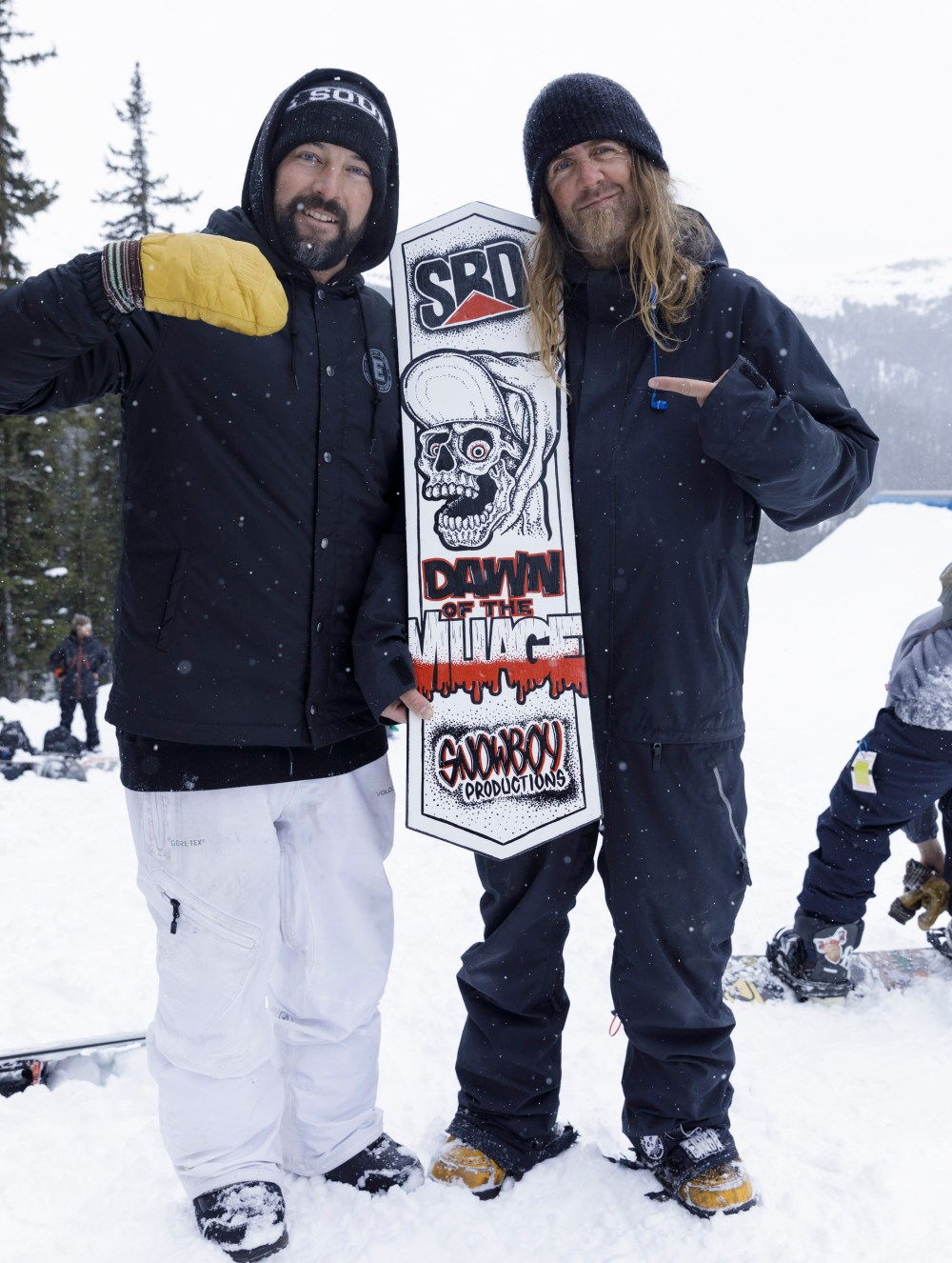 Web9 – Dwayne Weibe with his handpainted board for Krush