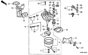Honda gcv160 carb assembly  DoItYourself Community Forums
