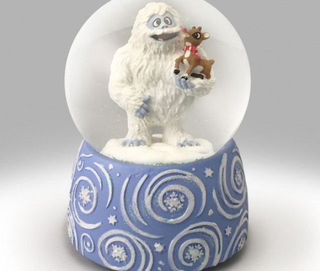 Rudolph And Bumble Snow Globe