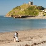 Criccieth Castle and beach - Llwyn Bugeilydd Snowdonia Caravan Park