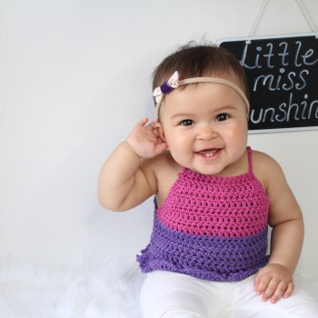 Little Miss Sunshine Crochet Top Pattern