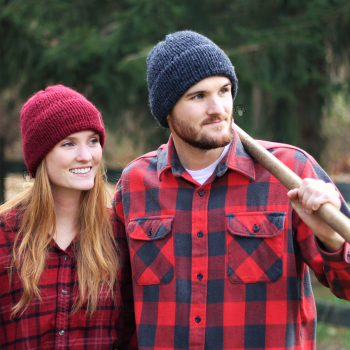 Double Brim Knit Hat