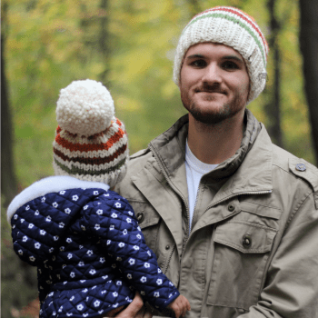 Harvest Stripe Knit Hat