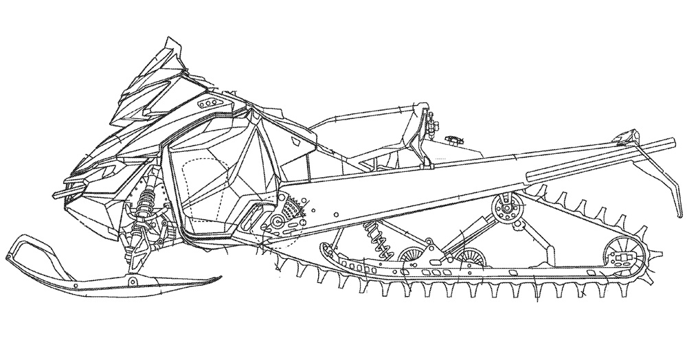 Snowmobile Drawings Sketch Coloring Page