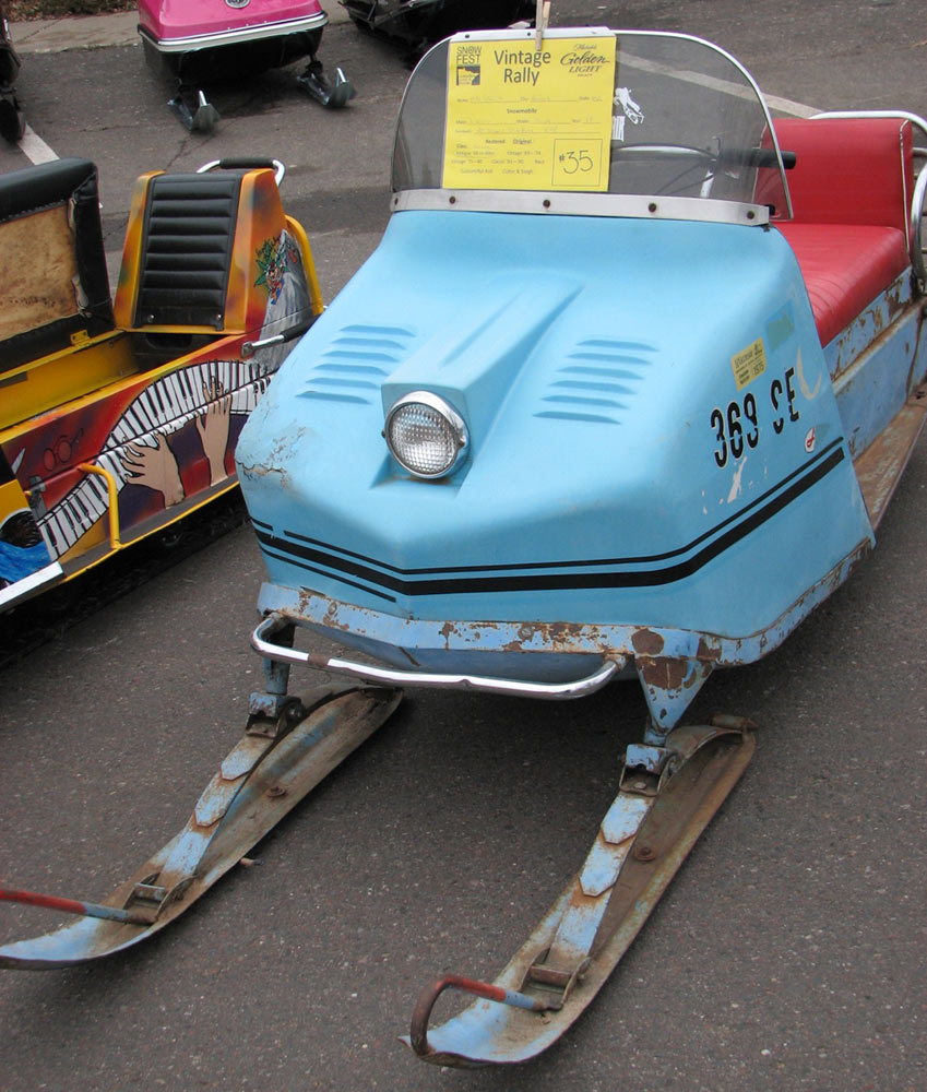 hight resolution of vintage snowmobile