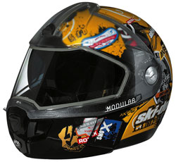 Ski Doo Modular  Limited Edition Polycarbonate Composite Snowmobile Helmet Features An Optically Correct