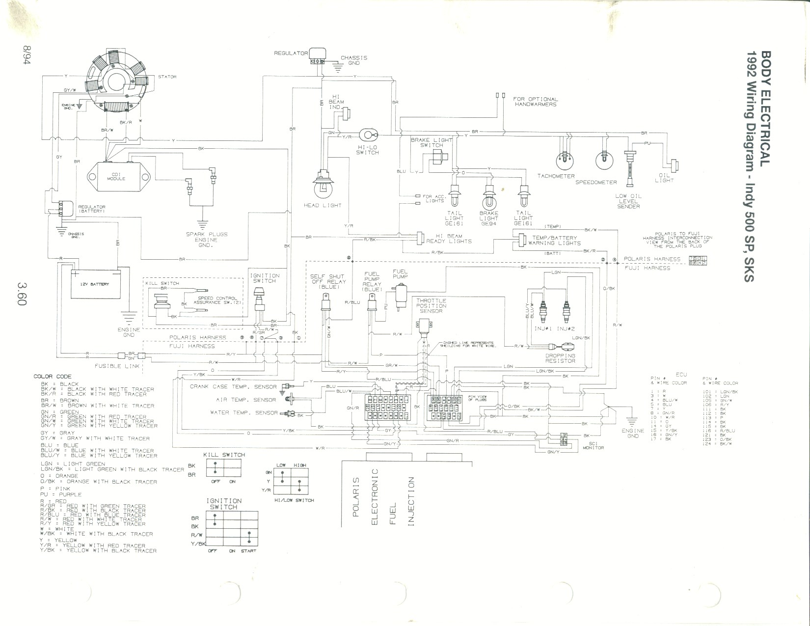 Wiring Diagram 2003 Polaris Classic. Parts. Wiring Diagram