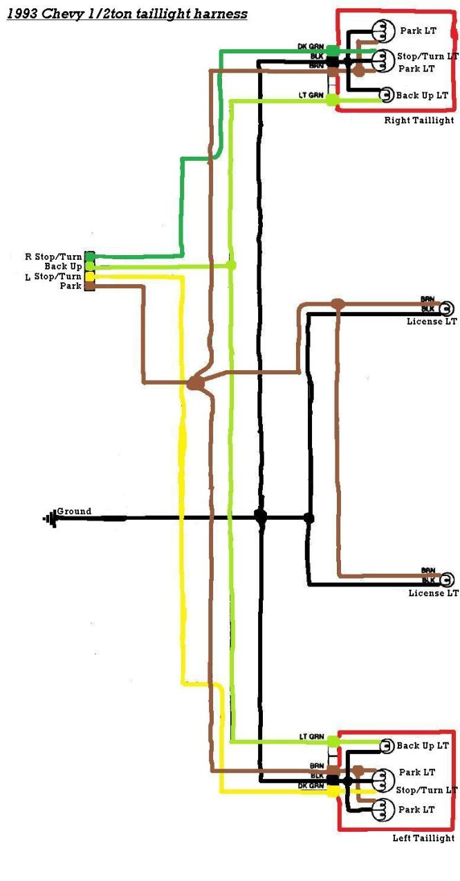 truck light wiring diagram tail light wiring diagram chevy tail image wiring wiring diagrams for 1994 chevy truck wiring diagram