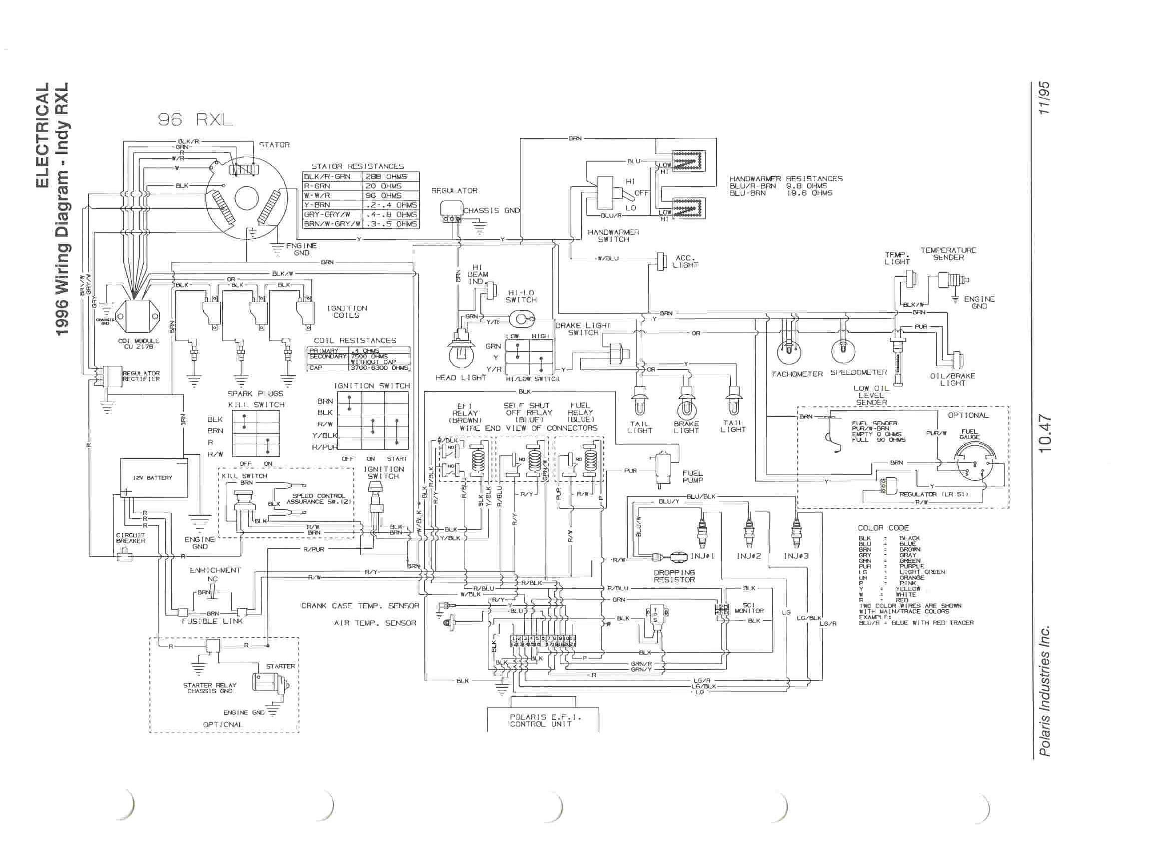 [WRG-4083] Polaris 650 Wiring Diagram