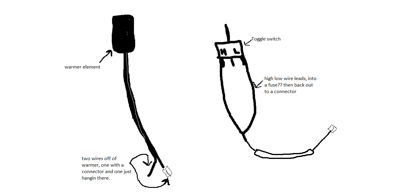 Wiring in a thumb warmer