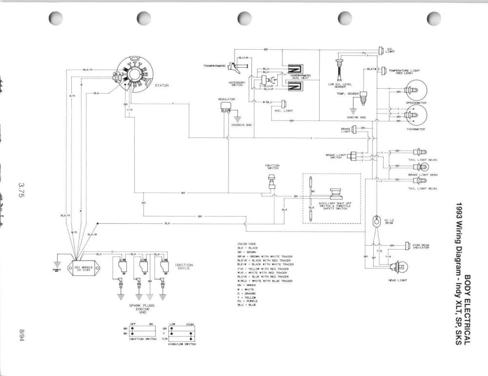 medium resolution of is there a full wiring diagram for my 93 xlt 580 rh snowmobilefanatics com 2001 arctic