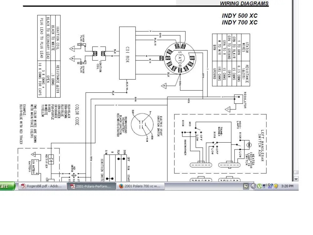 medium resolution of 2001 polaris 700 xc wire help rh snowmobilefanatics com 2002 polaris xc 600 wiring diagram polaris