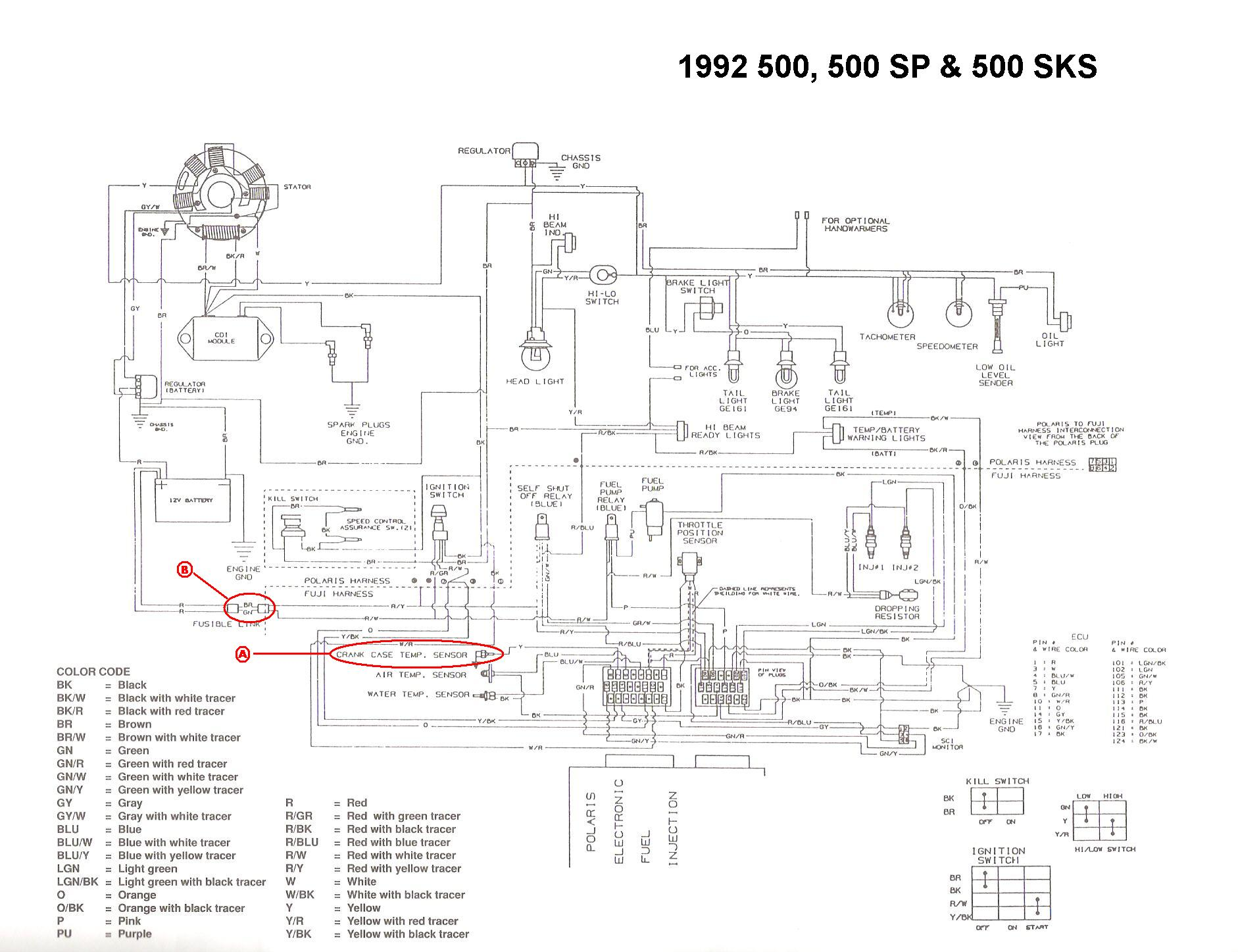 1994 Polaris Indy 500 Efi Wiring Diagram : 40 Wiring