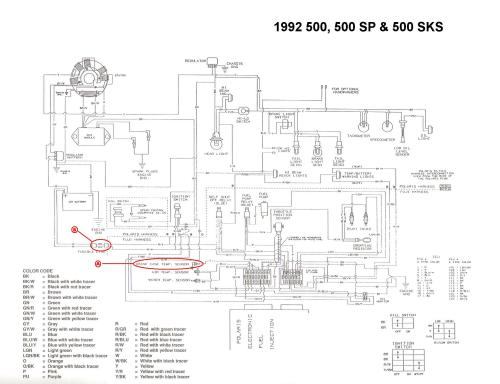 small resolution of 1992 polaris wiring diagram wiring library 1992 indy 500 efi no ground signal 1998 polaris trail