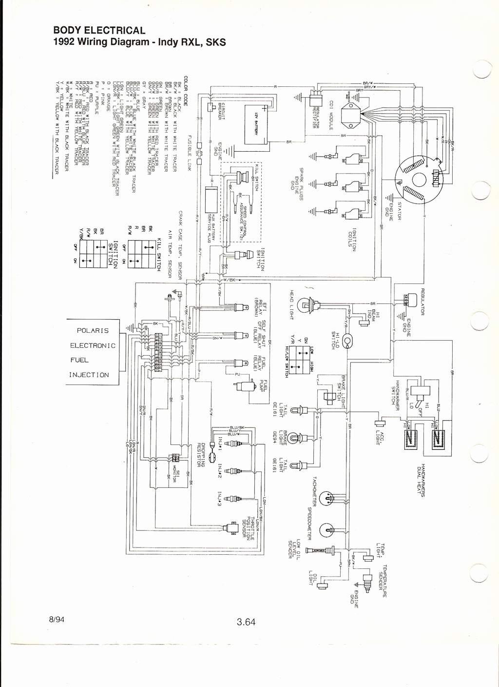 [WRG-7170] Polaris 650 Wiring Diagram