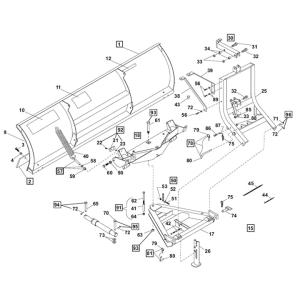 UniMount Plows  Part Diagrams  Western Products  LSX  Snowplow Parts Warehouse