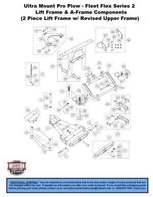 Pro Plow's  Straight Blade  UltraMount Plows  Western Snowplow Parts With Diagrams  Western