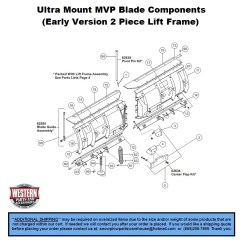 Western Snow Plow Parts Diagram 96 Civic Wiring Honda Radio Lovely Mvp Early Version 2 Piece Lift Frame V Plows Ultramount Blade Components