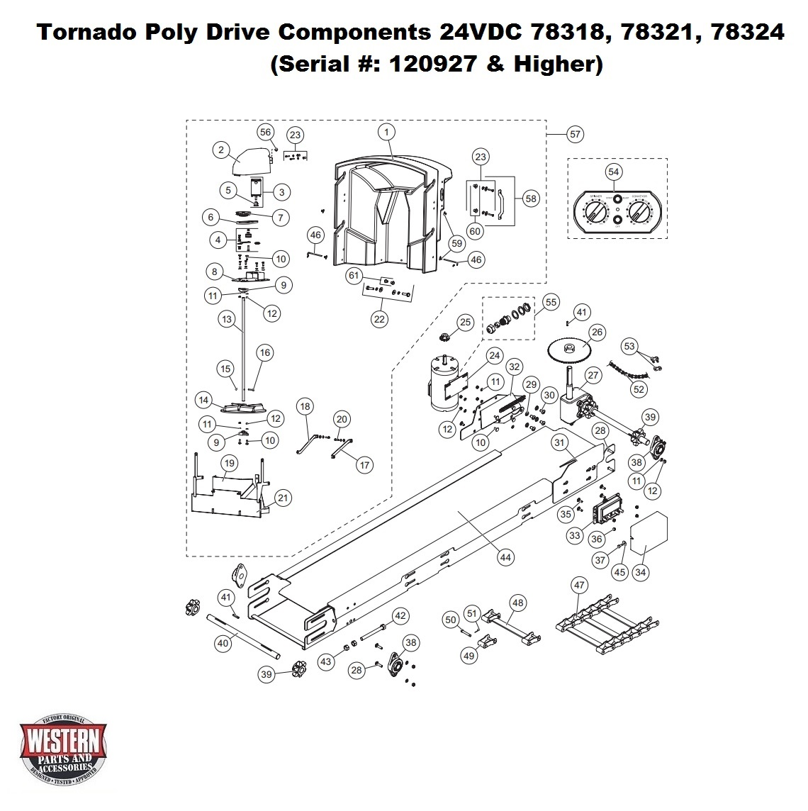 Tornado 24VDC 78318,78321,783254 (Serial # 120927 & Higher