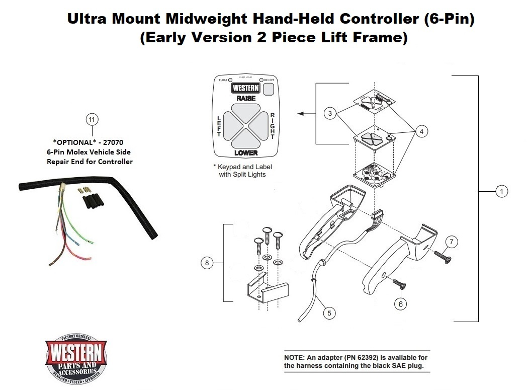 Midweight (Early Version 2 Piece Lift Frame) Diagrams