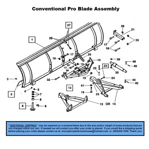 Pro Plow  Conventional  Part Diagrams  Western  Blade