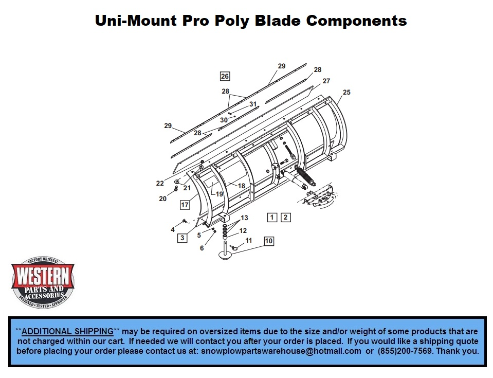 western snow plow parts diagram 2002 hyundai sonata engine pro poly uni mount plows with diagrams blade components