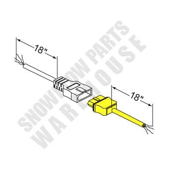 63692 WESTERN HARNESS VEHICLE END KIT 3 OR 4 PIN