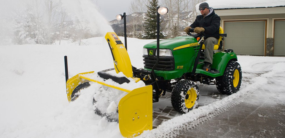 Complete packages available with weights and tire chains. Snow Blower And Snow Plow Attachment For Lawn Tractors Snowplowr Com
