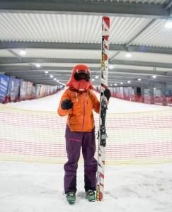 Katrien Aarts klaar voor de start