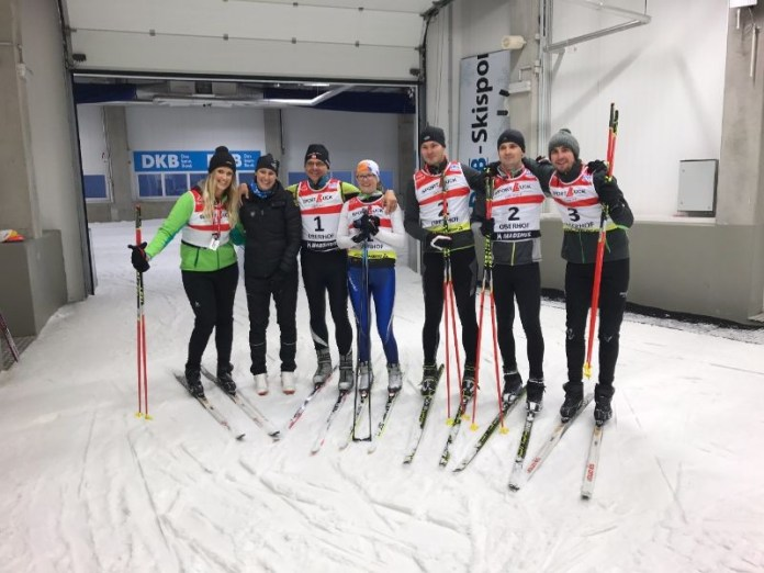 De twee teams, biatlon clinic, Oberhof