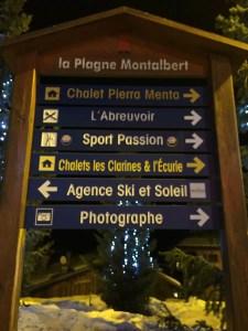 La Plagne montalbert op 1350 meter