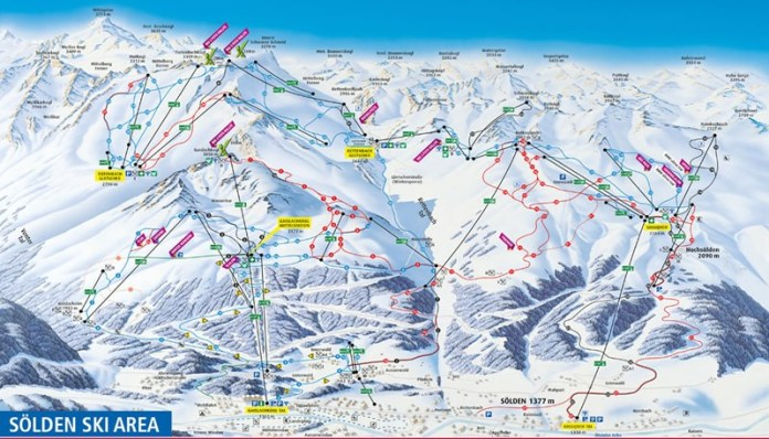 Sölden Ski Map