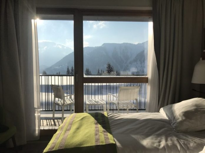 Uitzicht vanuit je kamer zodra je de gordijnen open schuift...