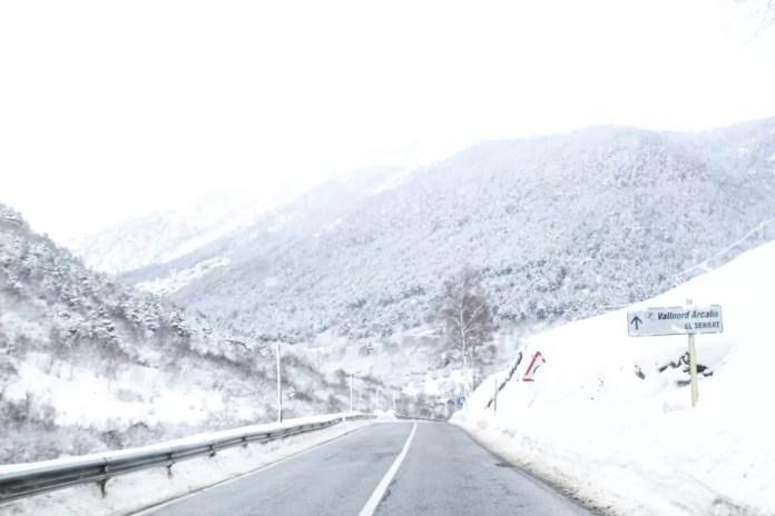route naar Andorra
