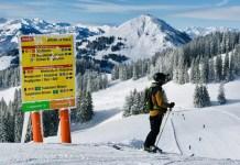 Blik op de Hohe Salve in de SkiWelt