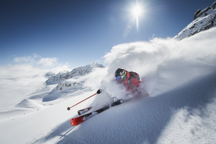 Freeriden op de Stubaier Gletscher. Foto: Andre Schoenherr