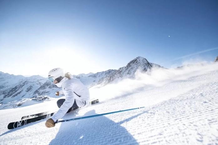 Geweldig skiën op de Stubaier Gletscher. Foto Andre Schoenherr