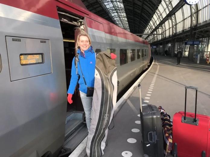 Met de Thalys van Amsterdam Centraal naar Frankrijk. Foto: Pauline van der Waal
