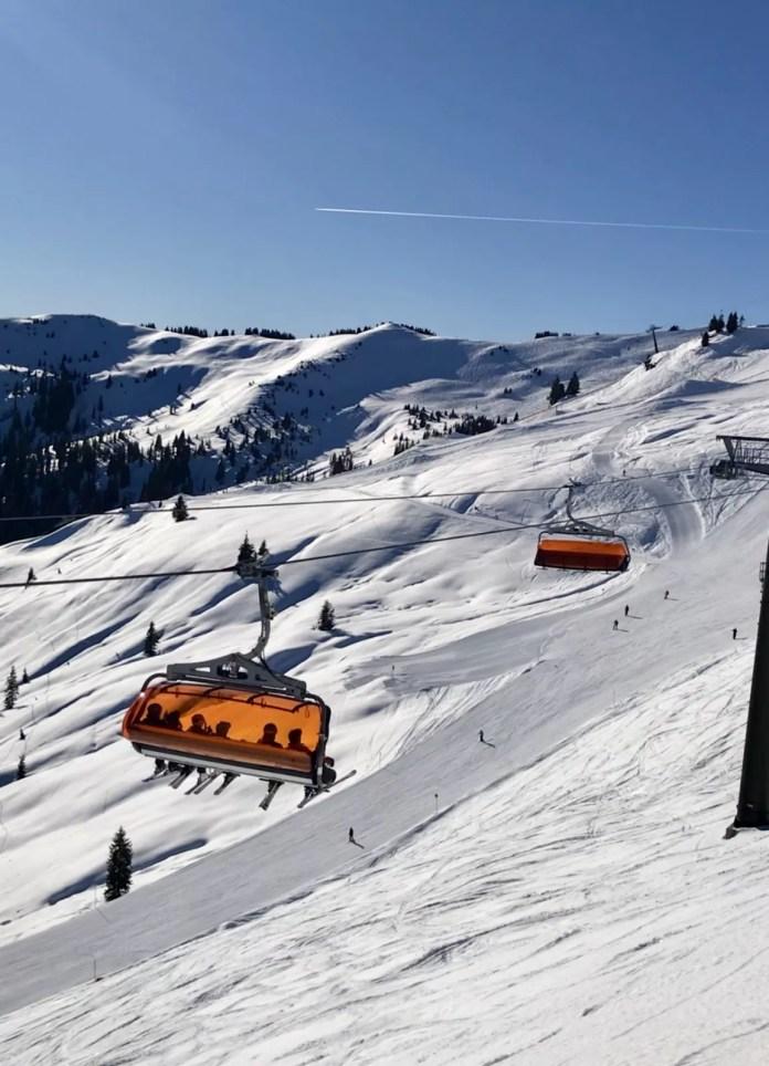 Met één skipas skiën in zowel Zell am See en Kaprun als ook Saalbach-Hinterglemm. Foto: Pauline van der Waal